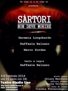 Sàrtori non deve morire_Teatro Studio Uno_Prima Nazionale_4-9 febbraio