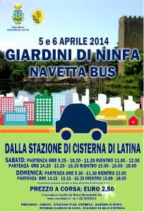 Ninfa - bus aprile 2014