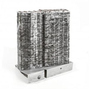 Luce Delhove Raminie n. 4 alluminio, rame e ferro