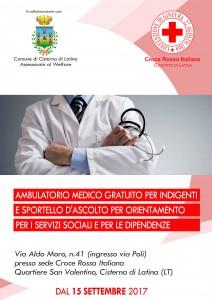 CRI - brochure Ambulatorio x indigenti fronte