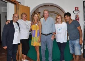 Foto di gruppo con organizatori, Zoff e Majello