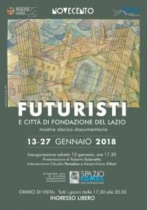 Futuristi e Citt+á di Fondazione del Lazio - locandina
