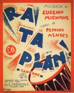 Rataplan canzone  Mignone Mendes Bonfanti Carisch 1928