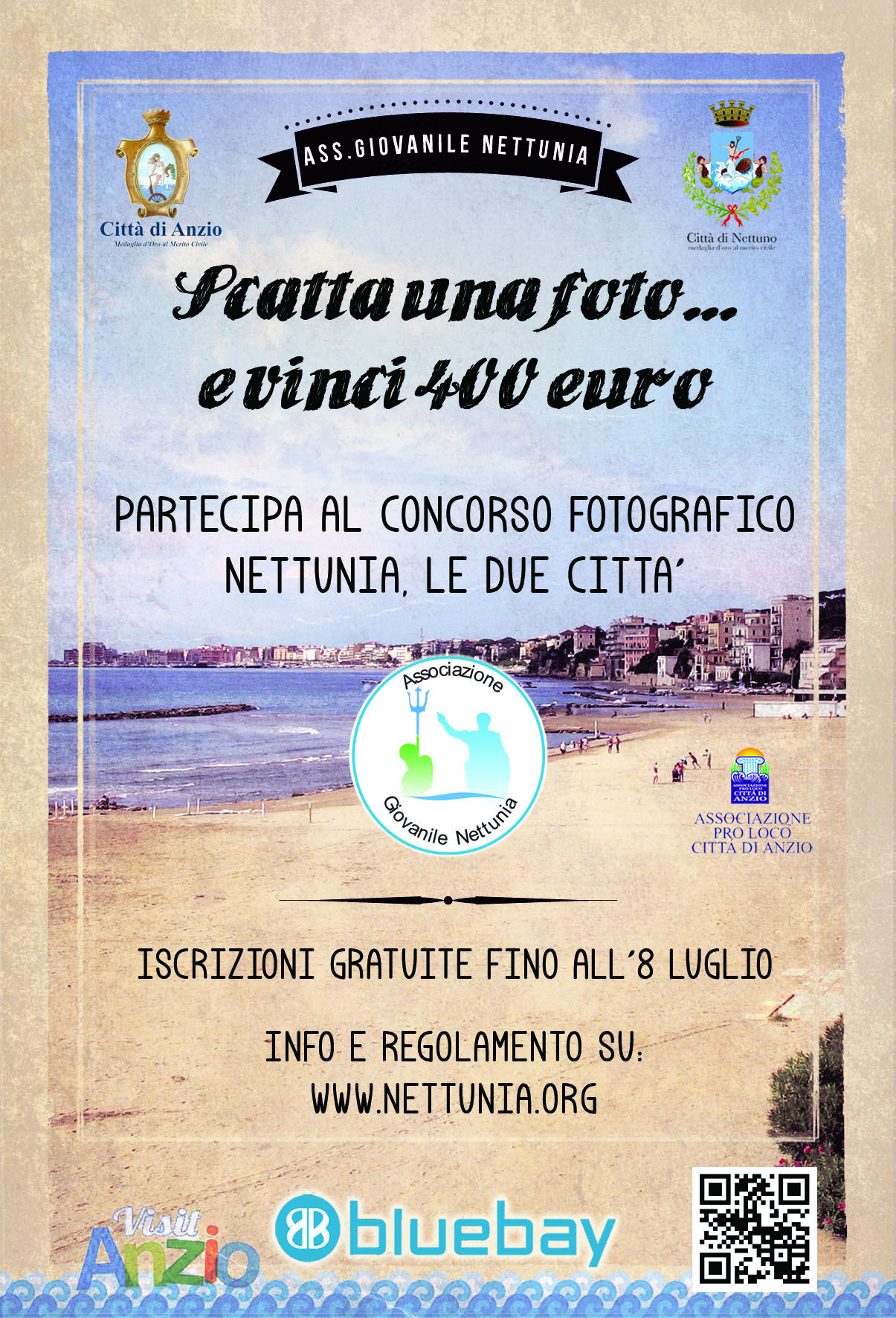 Nettuno: Scatta una foto e vinci 400 euro