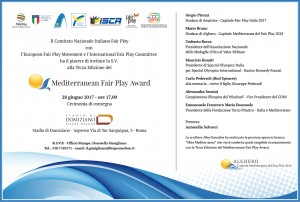 Mediterranean Fair Play Award - invito