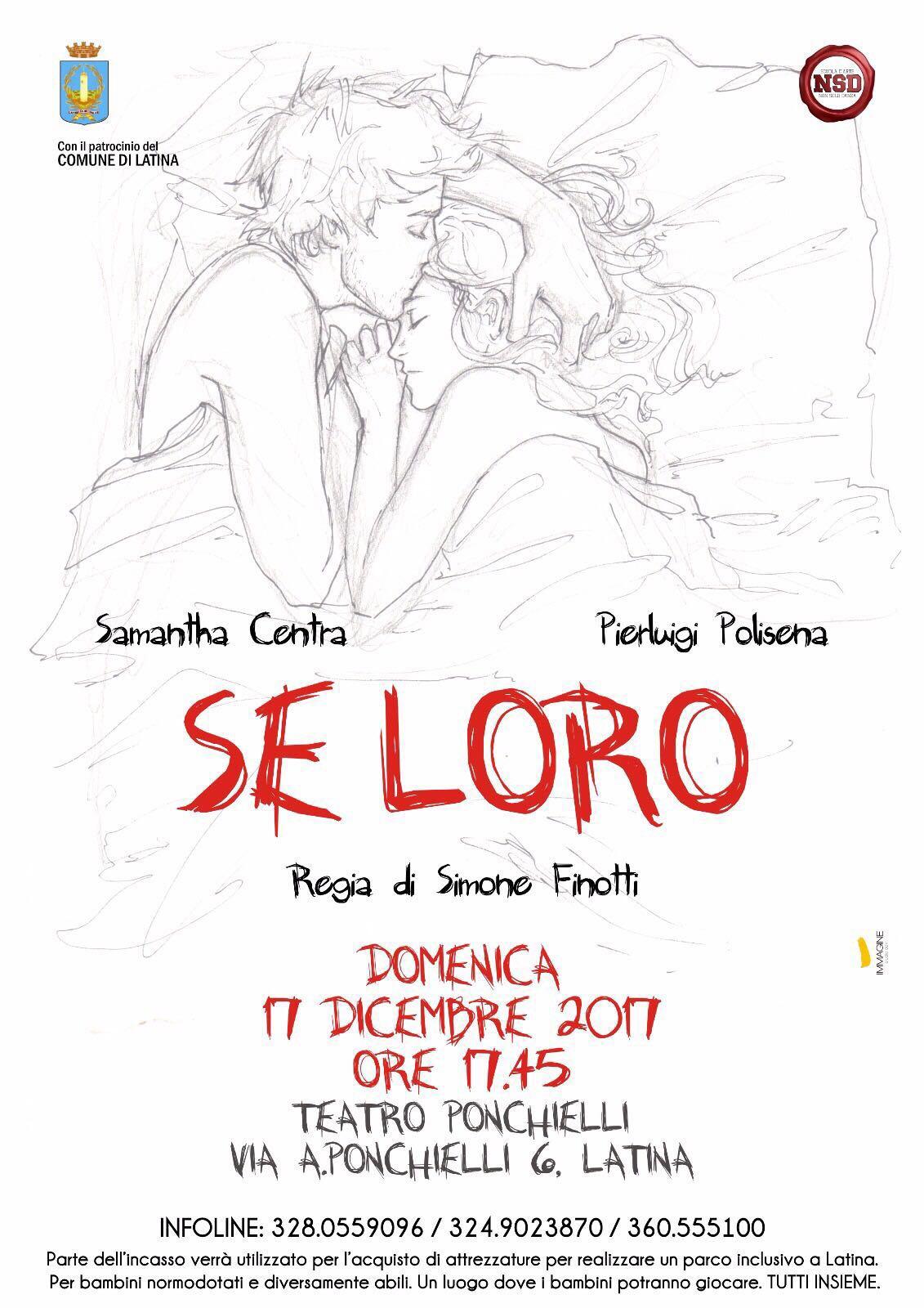 """Latina:  """"Se loro …""""al Teatro Ponchielli  (video promo)"""