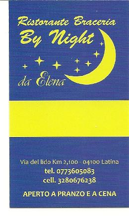 Ristorante braceria By Night