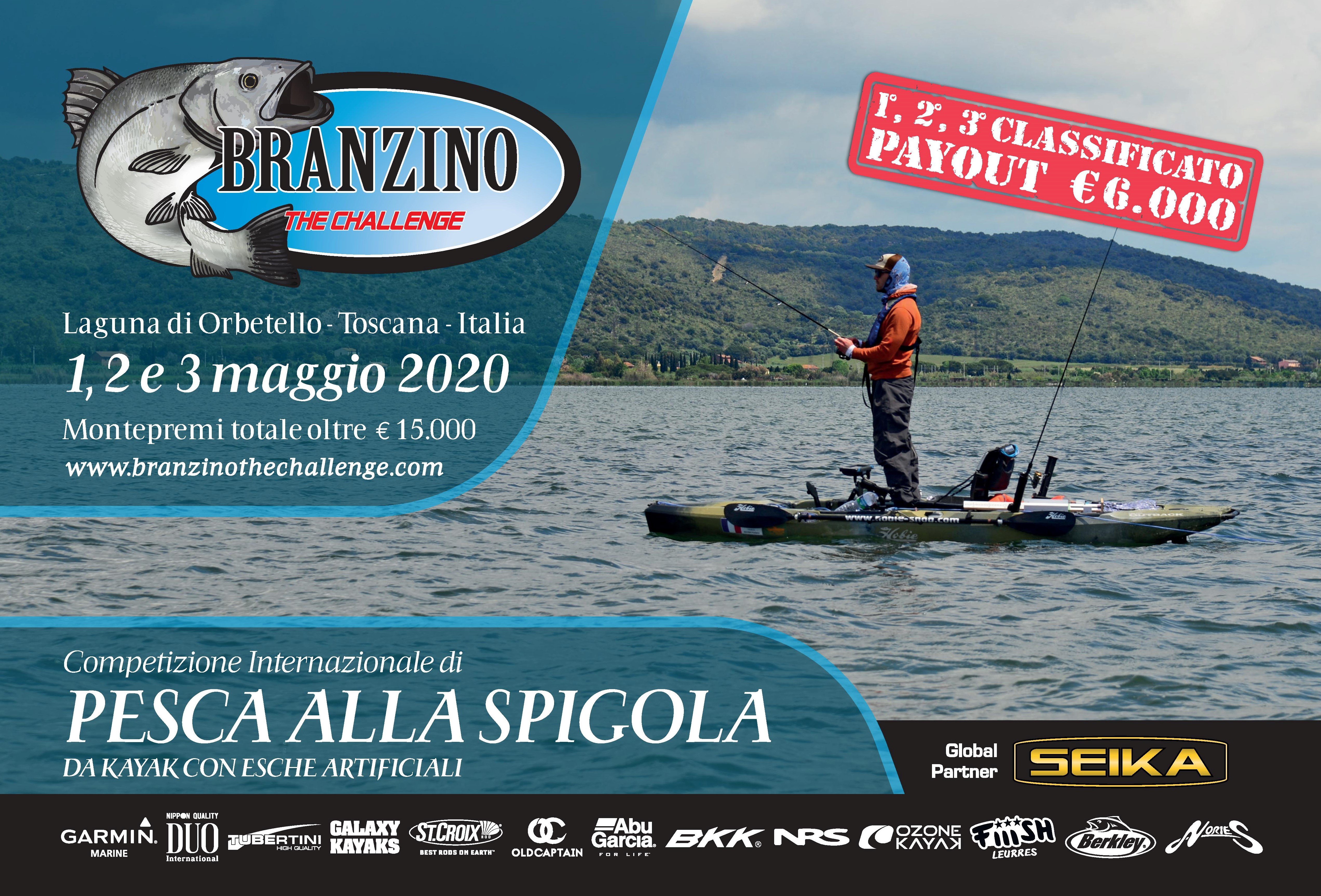 Orbetello: Branzino The Challenge 2020, torna la sfida in kayak