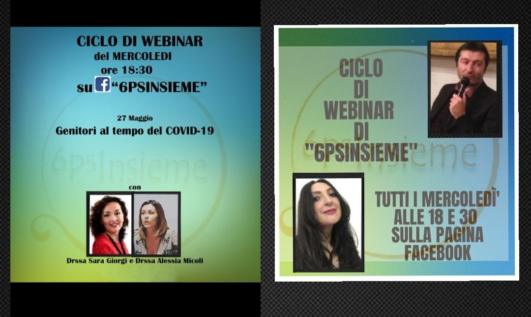 """Psicologia: Webinar formativi di """"6psinsieme"""""""