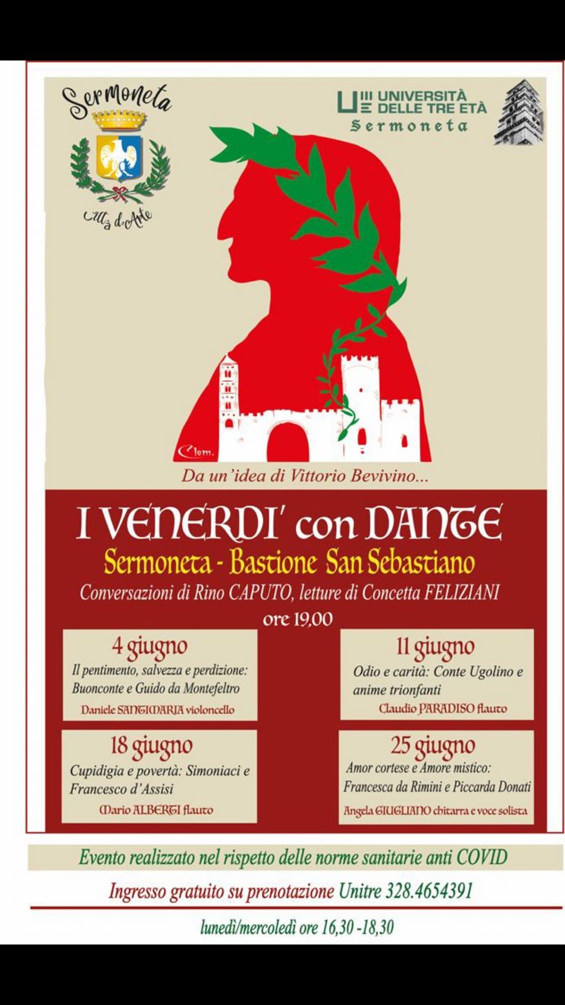 "Sermoneta celebra il Sommo Poeta con ""I Venerdì con Dante"""