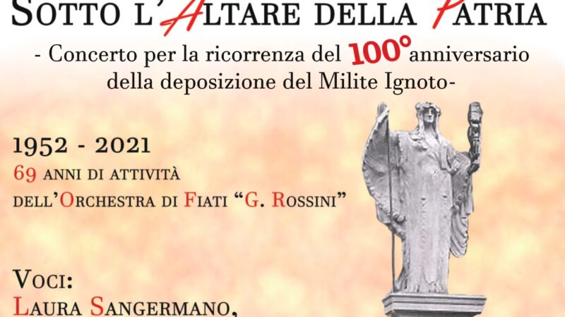 """L'orchestra di Fiati G. Rossini in: """"Sotto l'Altare della Patria"""""""